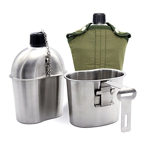 TargetEvo Stainless Steel Military Canteen