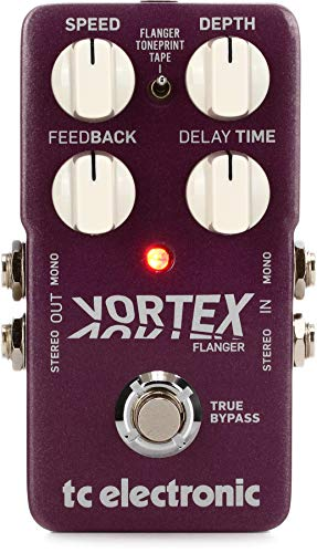 TC Electronic Outstanding TonePrint-Enabled Flanger Pedal with 2 Built-in Flanger Modes, Deep Control and Stereo I/O (VORTEXFLANGER)
