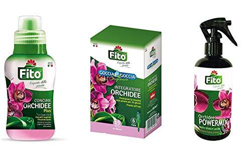 Kit Completo Concime Orchidee Liquido Goccia a Goccia e Spray Per La Cura Delle Tue Orchidee|Concime Goccia a Goccia con 6 fiale + Concime Liquido 250 ml + Spray Idratante 300 ml|TRATTAMENTO COMPLETO