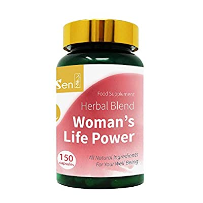 GinSen Fertility Supplement Tablets (150 Capsules) Woman's Life Power Helps Egg Quality and Quantity, FSH, AMH, Irregular Periods, Irregular Ovulation, Natural Conceive, PCOS, Natural Remedy, UK Made