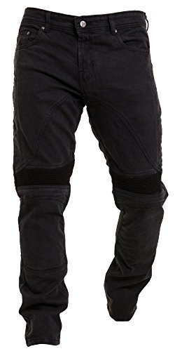 Alician Motorcycle Riding Jeans Motorbike Cycling Trousers Armor Protective Pants JES-26 black M