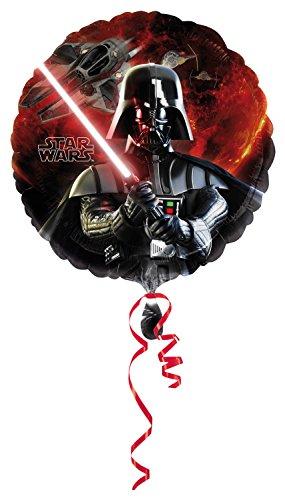 amscan 10037833 Amscan 2568501 - Folienballon, Disney Star Wars, Darth Vader, 45 x 45 cm