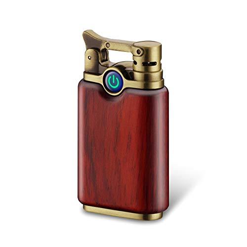 KUGUAN Dual Arc Lighter Rechargeable Flameless Windproof Portable Double Arc Lighter Sandalwood...