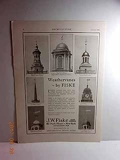 Advertisement: Weathervanes by Fiske - J. W. Fiske Iron Works