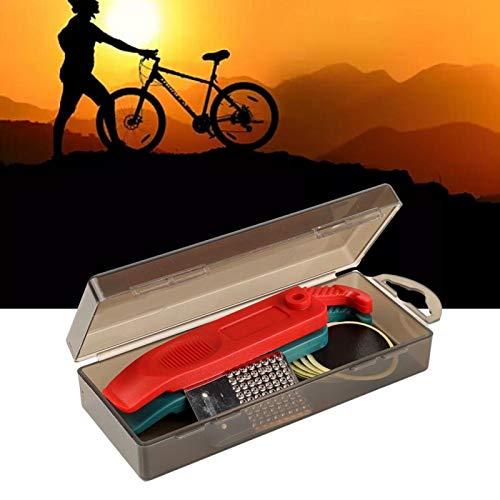 Herramienta de reparación de neumáticos de ciclismo, hoja de lima de acero inoxidable con palanca de nailon ligero, para bicicleta de montaña(black)