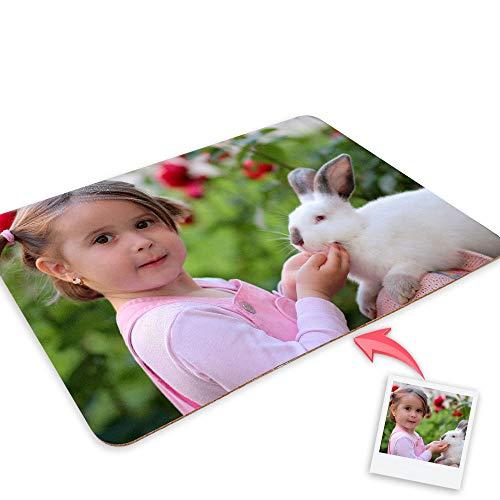 Getsingular Mantel Individual con Base Corcho Personalizado con Fotos y Texto   Impresión Total