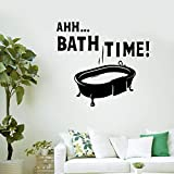 wZUN La Hora del baño Tatuajes de Pared baño Impermeable decoración del hogar Pegatinas de Vinilo bañera baño casa Ducha Letras Mural 85X93 cm
