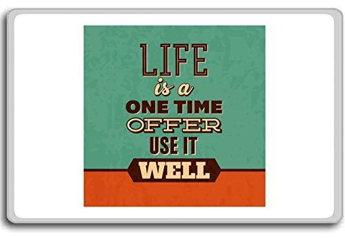 Het leven is een eenmalige aanbieding, gebruik het goed (groen) - Motivationele citaten Koelkast magneet
