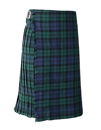 Scottish Mens Kilt Traditional Highland Dress Skirt Kilts Tartan Sporran (36, Black Watch)