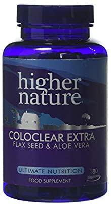 Higher Nature Coloclear Extra with Added Fibre Capsules Pack of 180
