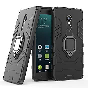 Cocomii Black Panther Ring Xiaomi Redmi Note 4/Note 4X Case Slim Thin Matte Vertical & Horizontal Kickstand Ring Grip Protection Bumper Cover Compatible with Xiaomi Redmi Note 4/Note 4X  Jet Black
