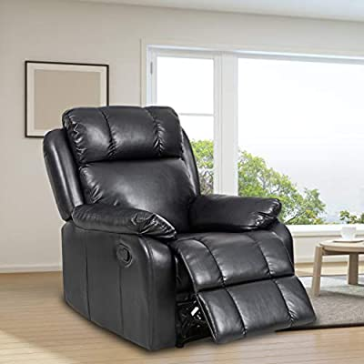 Recliner Chair Leather Sofa Recliner Couch Manual Reclining Home Theater Seating Manual Recliner Motion for Living Room Furniture