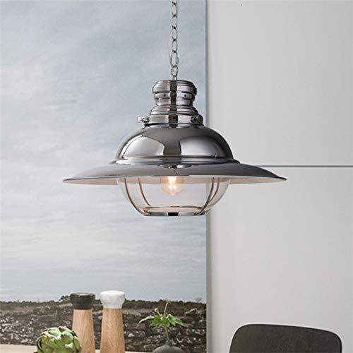 WnLit Lámpara Colgante nórdica Réplica diseñadores Frisbee E27 lámpara de araña de Cromo decoración de Pasar el Paraguas Volar platillo única Cabeza de la lámpara Colgante de Muebles para el h