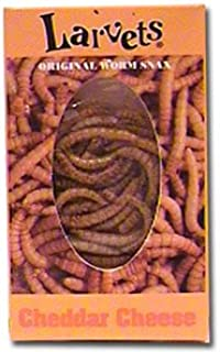 Larvets Original Worm Snax- Cheddar Cheese-6 packs