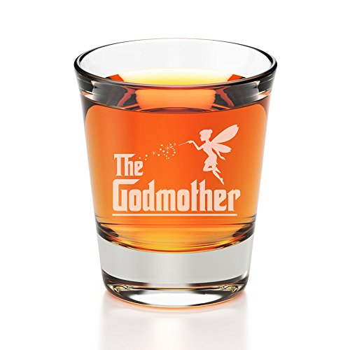 All Gifts The Godmother Engraved Fluted Shot Glass