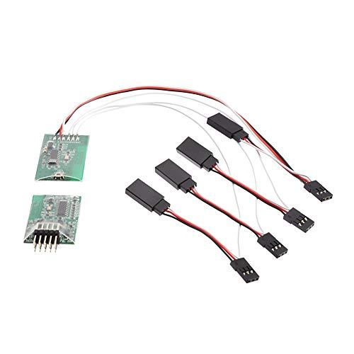 Heinside Módulo de interruptor de contacto, desmontaje libre, lámpara de columna de carcasa de coche RC para Traxxas HSP mando a distancia