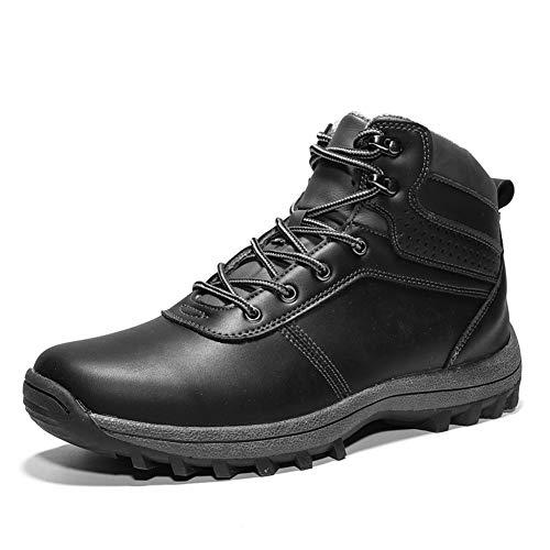 Trekking Botas Hombre Impermeables Zapatillas de Senderismo Deportes Exterior Sneakers Negro 39