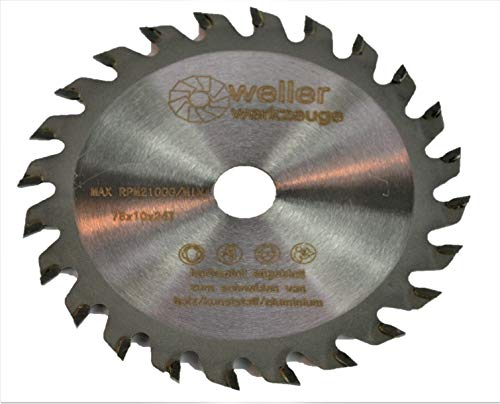 Profi Sägeblatt Kreissägeblatt 78x10mm für Holz Kunststoff Aluminium passend für akku Kreissäge Winkelschleifer