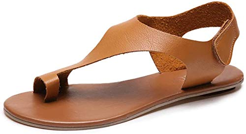 LONG-M Sandalias Corrección De Pies Y Dedos Grandes Planas Y Cómodas para Zapatos Ortopédicos Suaves E Informales con Fondo para,40