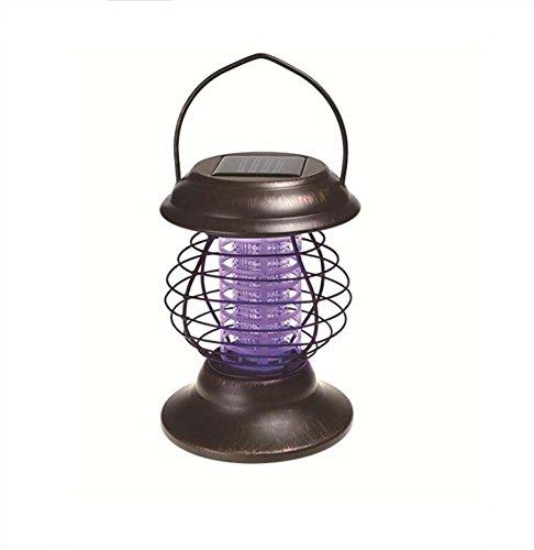 LED Mosquito Killer Retro LED Solar Mosquito Light, Outdoor Portable Ultra-Mute, Radiation-Free Solar Worm Zapper Light, Household Photocatalyst Mosquito Light Dual Mode, Mosquito Killer/Lighting, 16