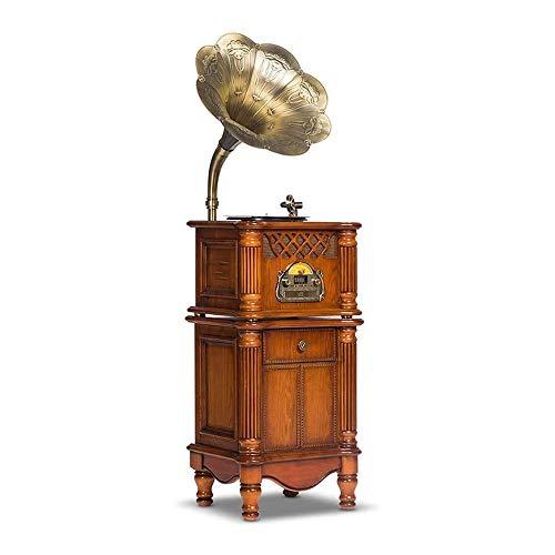 Caja de música Jugador de grabación vinilo antiguo europeo récord jugador vintage sala de estar audio v9 gramófono retro vinilo registro jugador antiguo europeo registro jugador vintage sala de estar