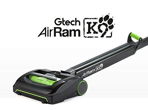 Gtech AirRam MK2 K9 Pet Vacuum Cleaner, 0.4 L, 140 W, Black/Green