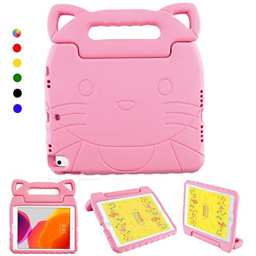 "ipad 8th Generation Case 10.2"" 2020, ipad 7th Gen 10.2"" Case 2019, Shockproof EVA Ipad Case for iPad Pro 10.5"" 2017 /Air 3rd 10.5 Inch Pink"