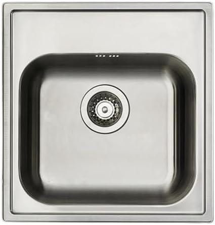 Lavello In Acciaio Inox Lavabile In Lavastoviglie E Piatto Ikea Boholmen In 48 X 50 Cm Con Sifone Set Amazon It Casa E Cucina