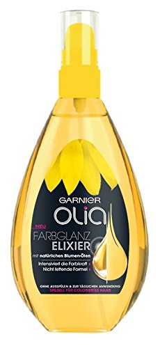 Garnier Olia Farbglanz-Elixier, intensiviert die Farbkraft, mit natürlichen Blumen-Ölen, nicht fettend, speziell für coloriertes Haar, 3er-Pack (3 x 150 ml)