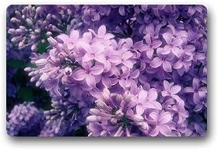 ZMvise Rubber Creative Comfortable Doormat Beautiful Purple Flower Doormat Doormat Floor Mat Indoor Outdoor 18 x 30 inch