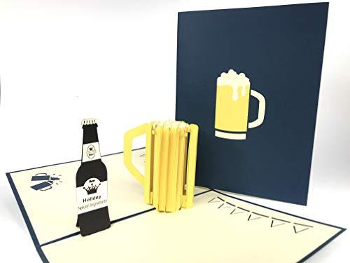 3D Pop Up Cards Tijd voor een bier!! Barbecue, BBQ, pop-up kaart verjaardag naam dag vaders dag hobby