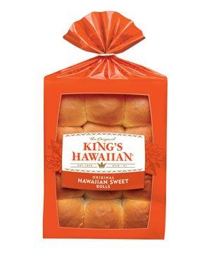 KING'S HAWAIIAN DINNER ROLLS SWEET BREAD