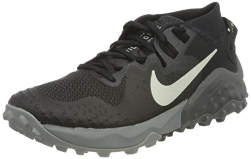 NIKE Wildhorse 6, Trail Running Shoe Mujer, Off Noir Spruce Aura Black Iron Grey, 38.5 EU