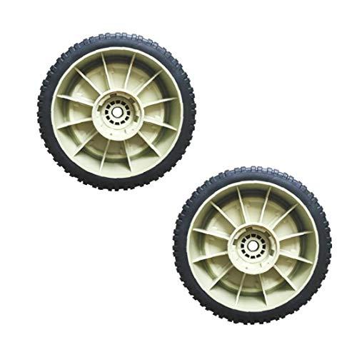 Jardín Máquina ruedas delantera universal neumático trasero para cortadora de césped-cuchilla desbrozadora yarda del jardín de accesorios 2pcs