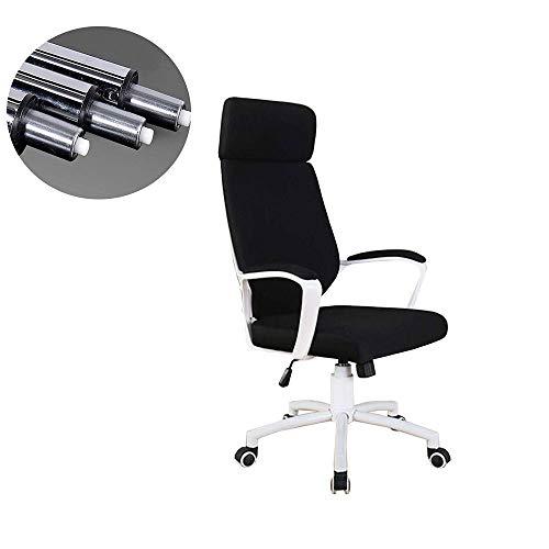Ejecutivo silla de la computadora de escritorio, Silla de oficina giratoria de 360 grados con respaldo alto Silla de escritorio de la computadora apoyo for la cabeza inclinada tensión altura ajustab
