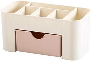 Tiroir de Rangement Bureau Maquillage Cosmétique Supports Boîte économiser de l'espace (Rose)