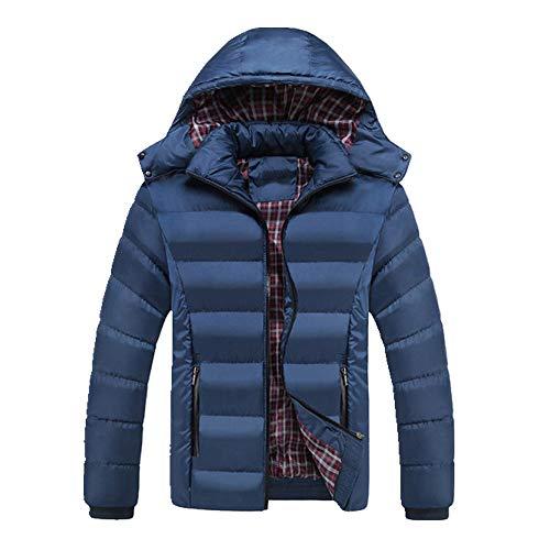 N\P Hombres Gruesos Abrigos con Capucha Chaquetas para Hombre Caliente Transpirable Abrigo Masculino Abrigo para Hombre