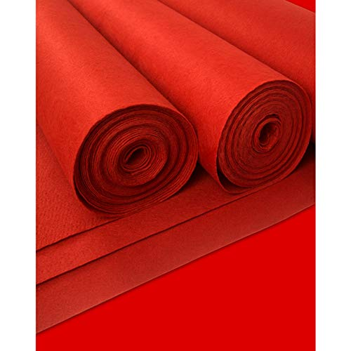Corredor De Pasillo De La Boda Al Aire Libre Corredor De Alfombra Roja Desechable De 2 Mm De Grosor Para La Fiesta Alfombra Del Corredor De Poliéster Alfombra Para Bod(Size:1.2×25m(4×82ft),Color:rojo)