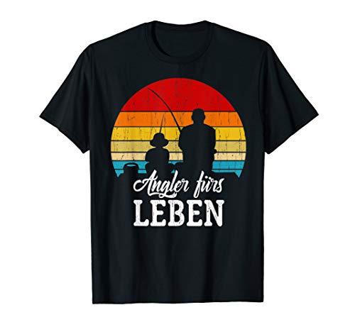Papa & Sohn Angler Fürs Leben - Partnerlook Angeln Vatertag T-Shirt
