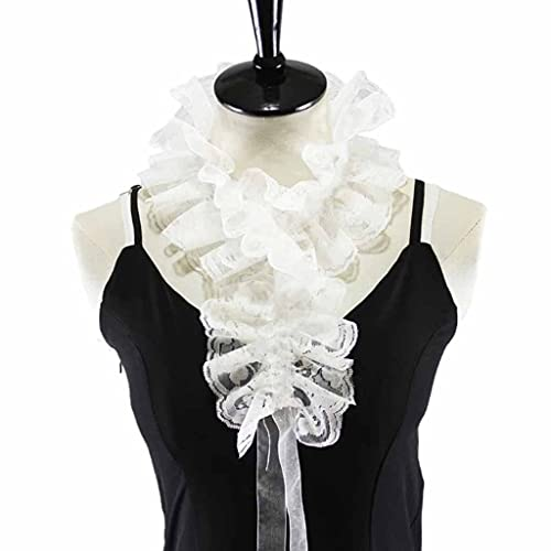 YWSZJ 2021 Ruffles Blancos de Encaje llanta Collar Falsa Collar Desmontable Gargantilla con decoración de Correa