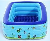 RPIDO Configuracin de colocacin Simple Centro de natacin Saln Familiar Rectangular Familia Juguetes para nios 130 * 90 * 45 cm Piscina Cuadrada Inflable Ocean Ball Play Remar con Bomba