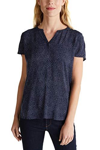 ESPRIT Damen 030EE1F359 Bluse, 401/NAVY 2, 40