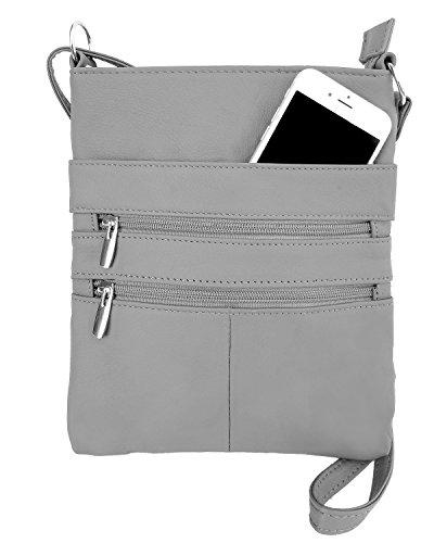 Roma Leathers Mini Cross Body Purse - Multi Pocket...