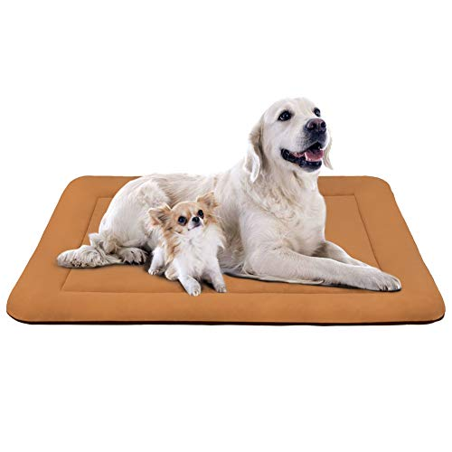JoicyCo Extra Large Dog Bed Crate Mat 47 in Anti-Slip Washable Soft Mattress Kennel Pads Beds