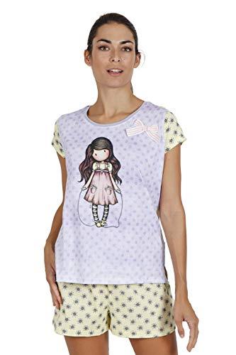 SANTORO Pijama de Manga Corta Skipping Rope para Mujer