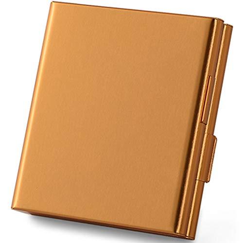 Wimilyシガレットケース アルミ製 軽量 タバコケース キングサイズタバコ 20本収納可 収納ケース (ゴールド)
