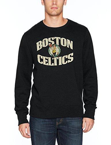 OTS Hombres de la NBA Forro Polar Redondo Envejecido, Hombre, NBA M Fleece Crew Dist, Gris, Small
