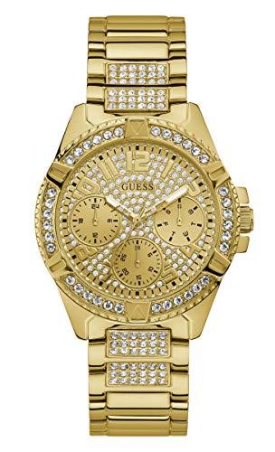 GUESS Damen-Armbanduhr 38mm Armband Edelstahl Gold + Gehäuse Batterie W1156L2