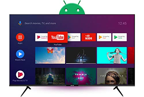 Evvo Smart TV Android 50 UHD 4K - 50 Pulgadas, Dolby Vision HDR, Chromecast Incluido, Bluetooth 5.0