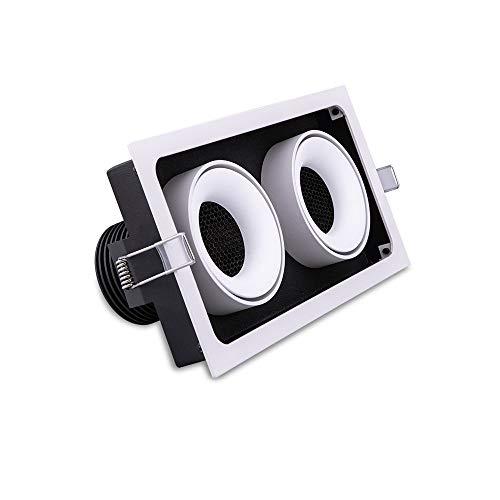 Modenny 11W Double Tête Angle Réglable LED Downlight Encastré Plafond Lampe Anti-Dazzle Commercial Panneau Monté Projecteurs Ultra Bright Magasin De Vêtements exposition Décoration Décoration Luminair